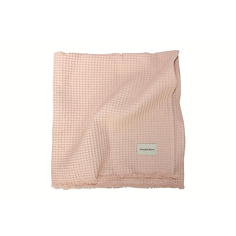 serviette de toilette nid d 39 abeille poudre 3 tailles annabel kern. Black Bedroom Furniture Sets. Home Design Ideas