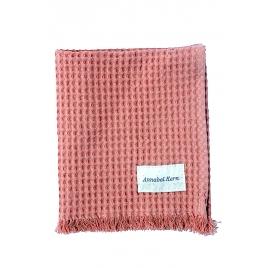 serviette de toilette nid d'abeille Goyave - 3 tailles