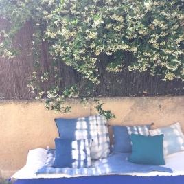 Couverture de sofa  Indigo tons foncés 130x60 cm Collab' Annabel Kern x Atelier Simone