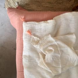 Edredon 95x130 cm abricot