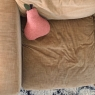 Grand coussin poire Nomade hand Dyed éponge Goyave