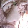 Grand coussin poire Nomade hand Dyed éponge Poudre