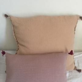 Housse d'oreiller Boho 60x60cm (coussin non fourni) Dune