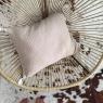 Coussin pompons dehoussable BOHO 35x45 cm Chanvre