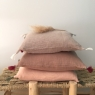 Removable cushion BOHO 35x45cm (interior cushion furnished) Chanvre
