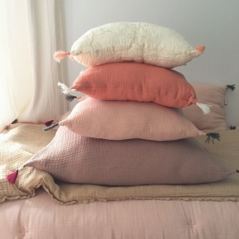 Coussin nomade abricot