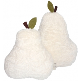 Pear cushion organic cotton - cream