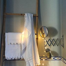 Drap de hammam 110 x 80 cm white