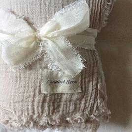 Cheche mousseline de coton Nomade hand Dyed Chanvre
