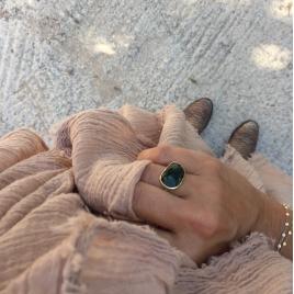 Cheche mousseline de coton Nomade hand Dyed Moka