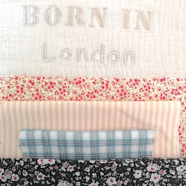 Cushion Born in …. Cream – to personalize