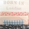 Cushion Born in …. Cream – to personalize