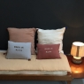 Cushion Born in …. Amber  – to personalize