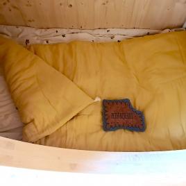 PETIT PLAID MOLLETONNE 65x125cm BANQUETTE ou LIT BEBE YUZU