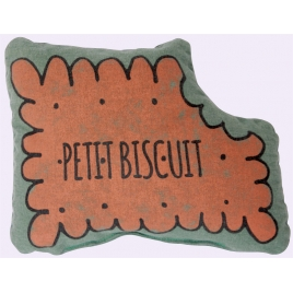 Small squaeker cushion petit biscuit  - chlorophylle
