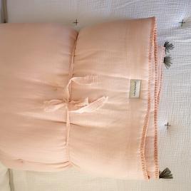 Plaid Quilté 100x140 cm Poudre