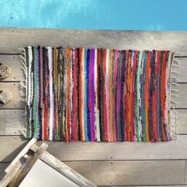 Tapis de sol ou de bain bayadère couleurs flashy