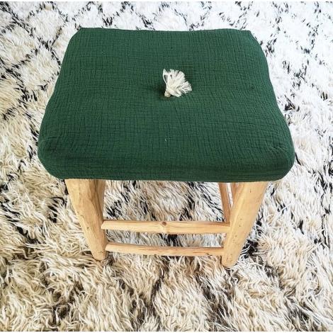 Square cushion - chlorophylle