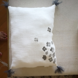 Cushion nomade slate - Hortensia My little print fabrics