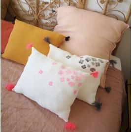 Cushion nomade pink neon - Hortensia My little print fabrics