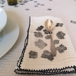 Set de 6 serviettes de table Craie - Hortensia My little print fabrics