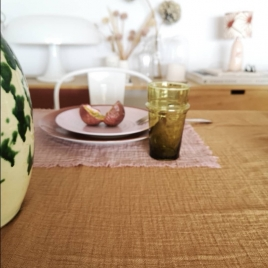 Table Cloth Boho 145x250 cm Noisette