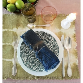 Duo de Set de table Tie & Dye Noix de cajou * Collab' Atelier Simone et Annabel Kern