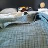 Bedspread cotton gauze blue Bantan