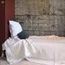 Bedspread cotton gauze White off