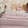 Bedspread cottonn gauze Antic pink