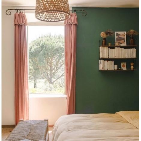 Curtain Craie terracotta 140x270 cm