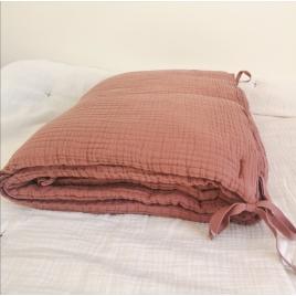 Bed bumper Craie terracotta 40x210