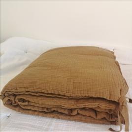 Bed bumper Craie noisette 40x210
