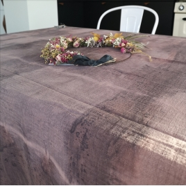 Drap de coton Tie & Dye Atelier Simone x Annabel Kern Noix de cajou