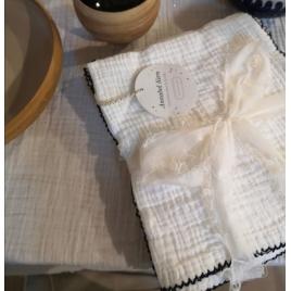 Set de serviettes de table Craie écru Quantité du set  Quantité du set  Quantité du set