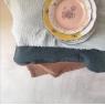 Tablecltoth Boho glace givrée  145x250 cm