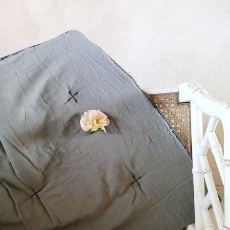 Plaid quilté Craie écume 60x120