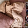 Removable sofa cover Craie gingembre (padding included)