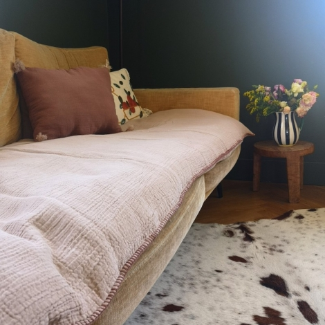 Removable sofa cover Craie moka (padding included)