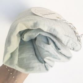 Drap housse Craie glace givrée 60x120 cm
