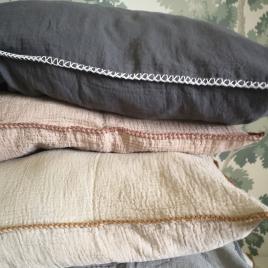 Pillow case Craie charbon