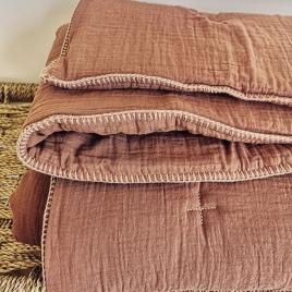 Couverture quiltée bout de lit  Craie gingembre 140x200cm