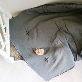 Couverture quiltée bout de lit  Craie écume 140x200cm