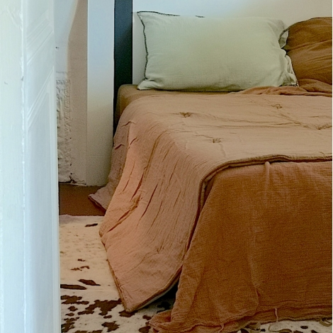 Quilted cover Craie moka 140x200cm