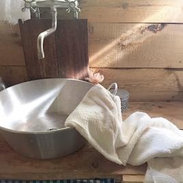 Sortie de bain abricot