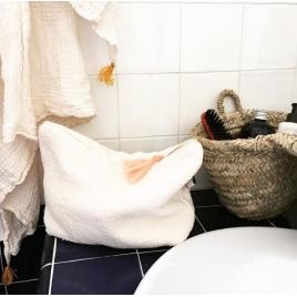 Trousse de toilette  abricot