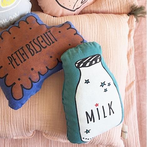 """Petit coussin pouet """"vintage spirit"""" petit biscuit majorelle"""