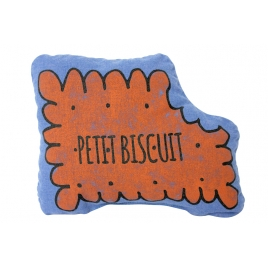 Small squaeker cushion petit biscuit  - majorelle