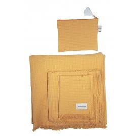 serviette de toilette nid d'abeille Yuzu - 3 tailles
